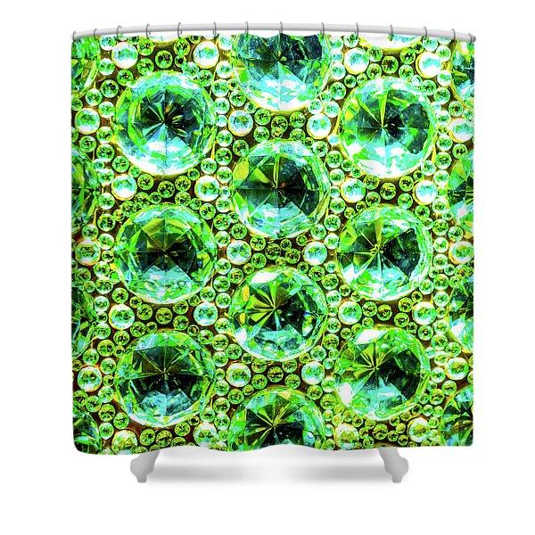 Cut Glass Beads 2 Shower Curtain