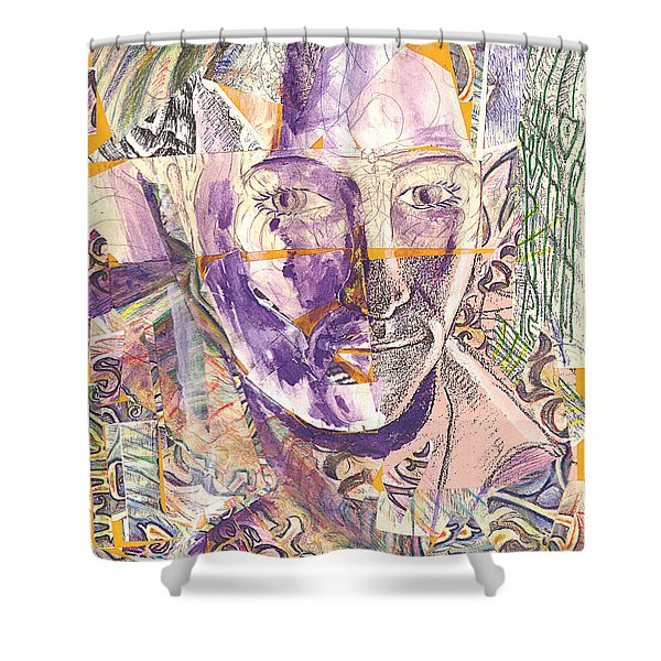 Cut Portrait Shower Curtain