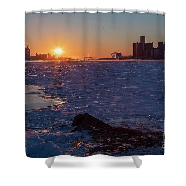 Detroit River Shower Curtain