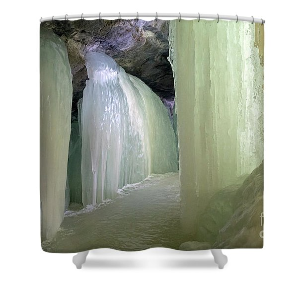 Eben Ice Caves Shower Curtain