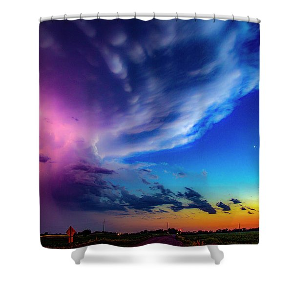 Epic Nebraska Lightning 007 Shower Curtain