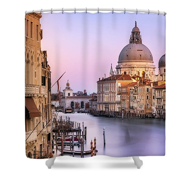 Evening Light In Venice Shower Curtain