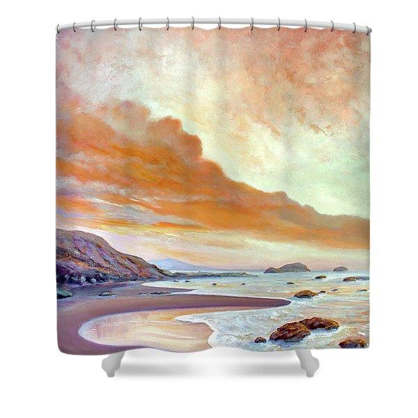 San Simeon Beach Shower Curtain