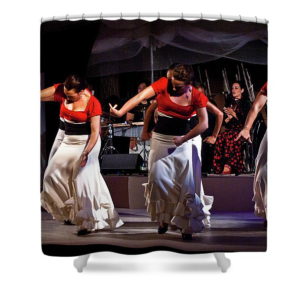 Shower Curtain featuring the photograph Flamenco 39 by Catherine Sobredo