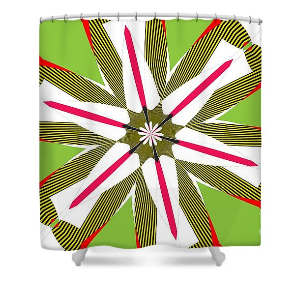 Flowers Number 5 Shower Curtain