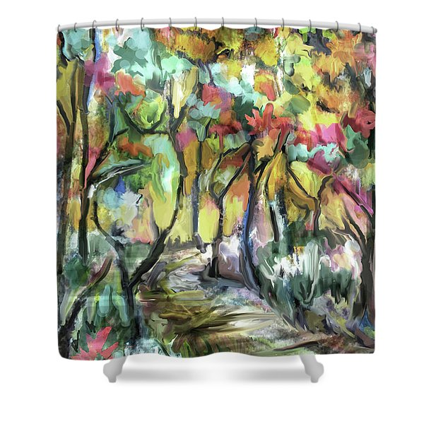 Forest Path Shower Curtain