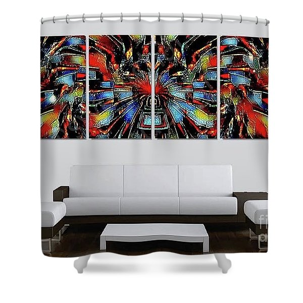 Funny Abstract Overlay Shower Curtain