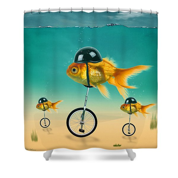 Gold Fish 3 Shower Curtain