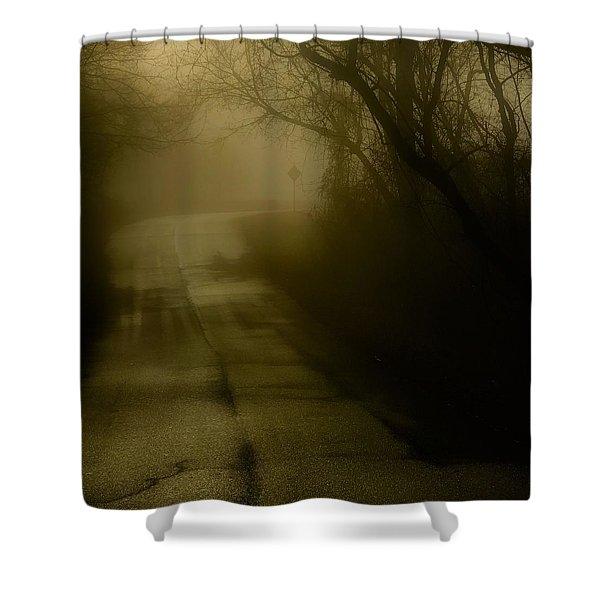 Golden Fog Shower Curtain