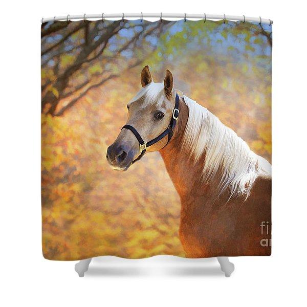 Shower Curtain featuring the digital art Golden Spirit by Melinda Hughes-Berland