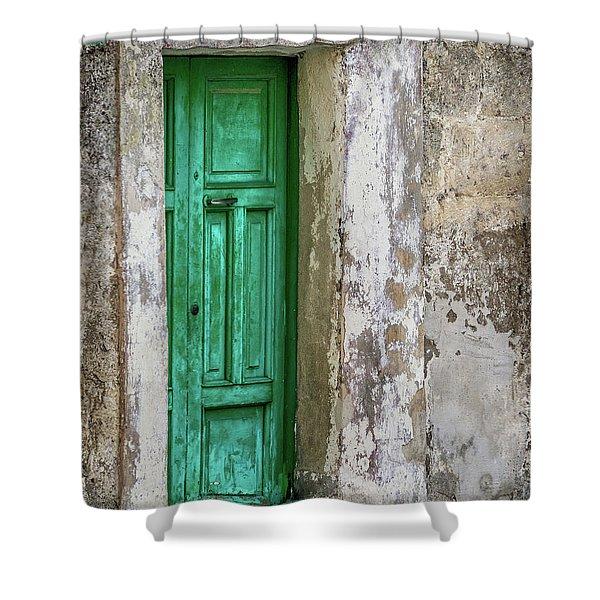 Green Door 2 Shower Curtain
