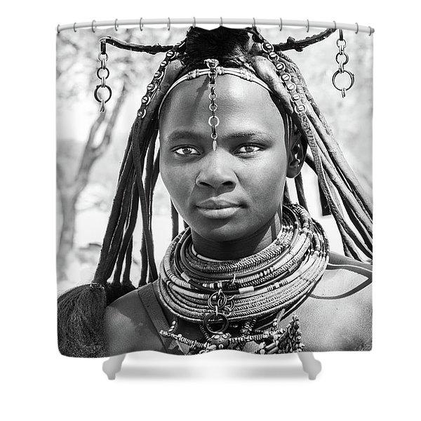 Himba Girl Shower Curtain