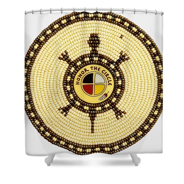Honor The Circle Shower Curtain