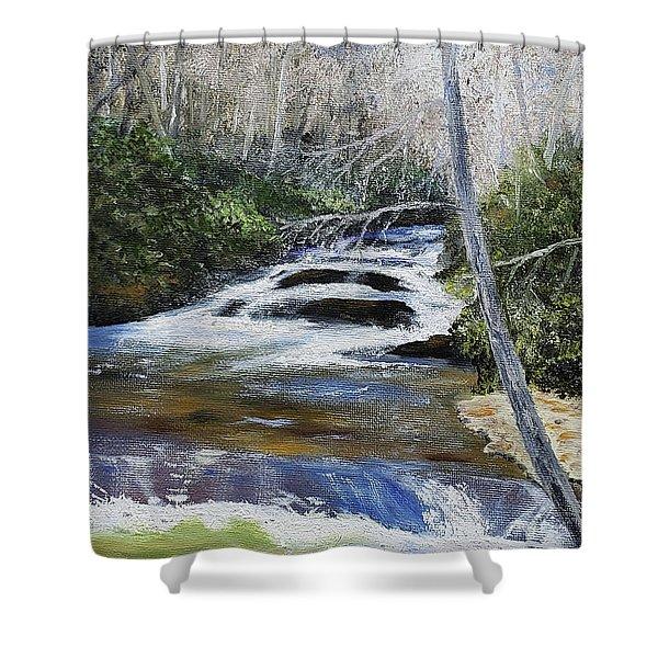 Horsepasture River Shower Curtain