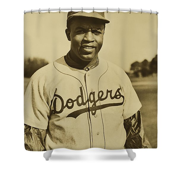 Jackie Robinson 1950 Shower Curtain