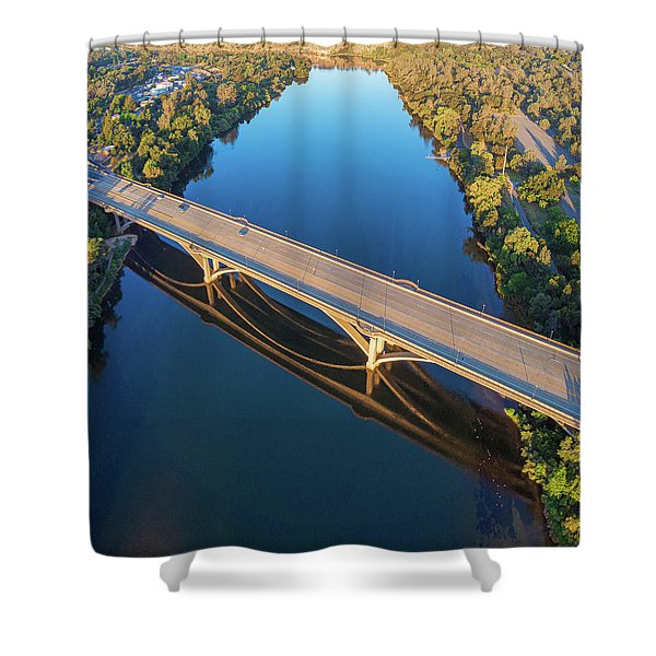 Lake Natoma Crossing Shower Curtain