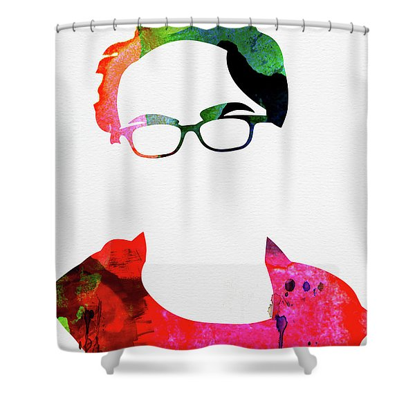 Leonard Watercolor Shower Curtain