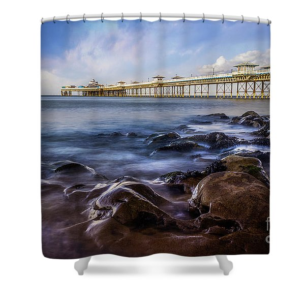 Llandudno Pier Shower Curtain