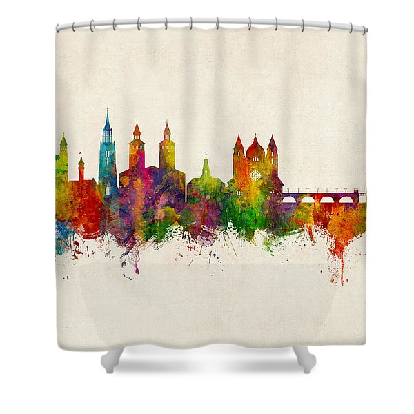 Maastricht The Netherlands Skyline Shower Curtain