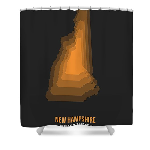 Map Of New Hampshire  Shower Curtain