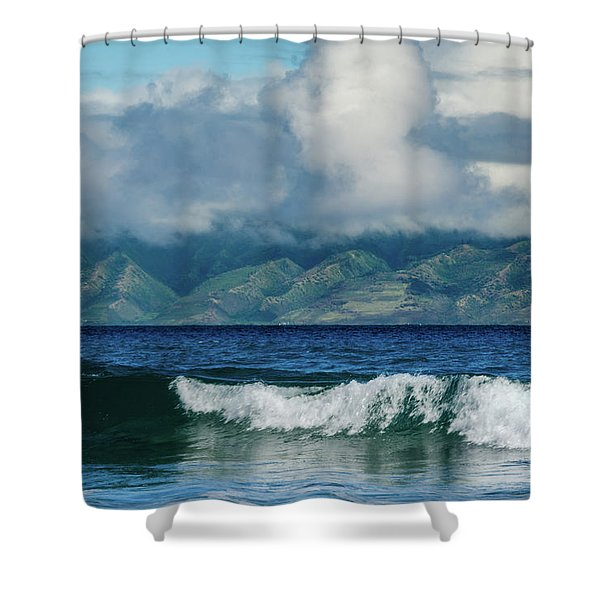 Maui Breakers Shower Curtain
