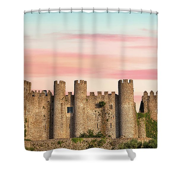 Medieval Castle Of Obidos Shower Curtain