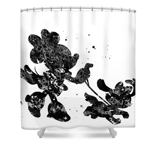 Minnie Mouse With Pet Shower Curtain