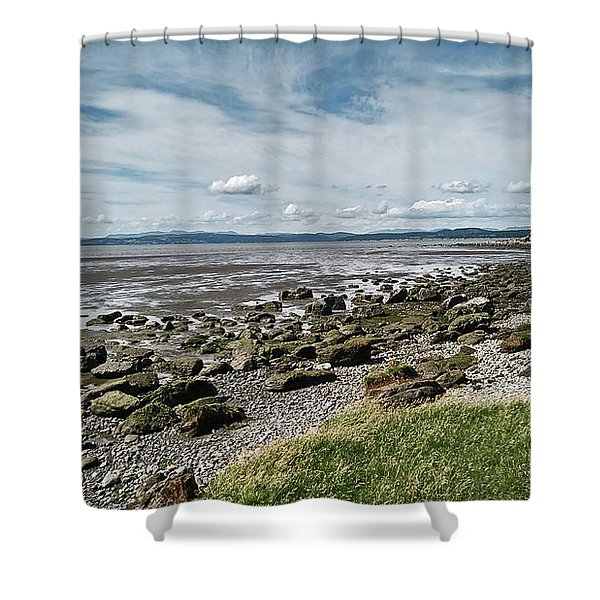 Morecambe. Hest Bank. The Shoreline. Shower Curtain