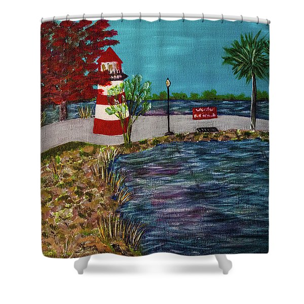 Mount Dora Lighthouse Shower Curtain