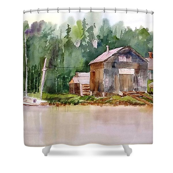 New England Boat Repair Shower Curtain