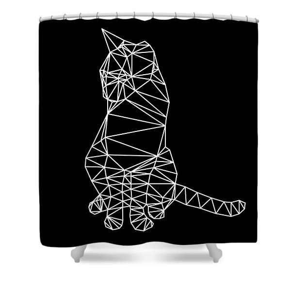 Night Cat Shower Curtain