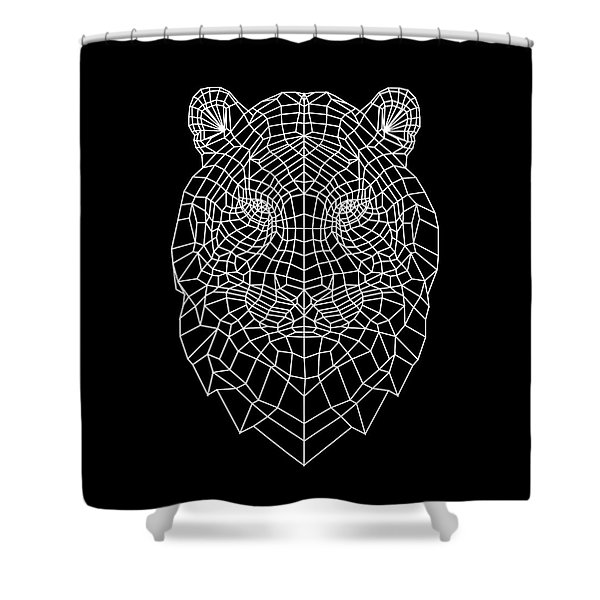 Night Tiger Shower Curtain