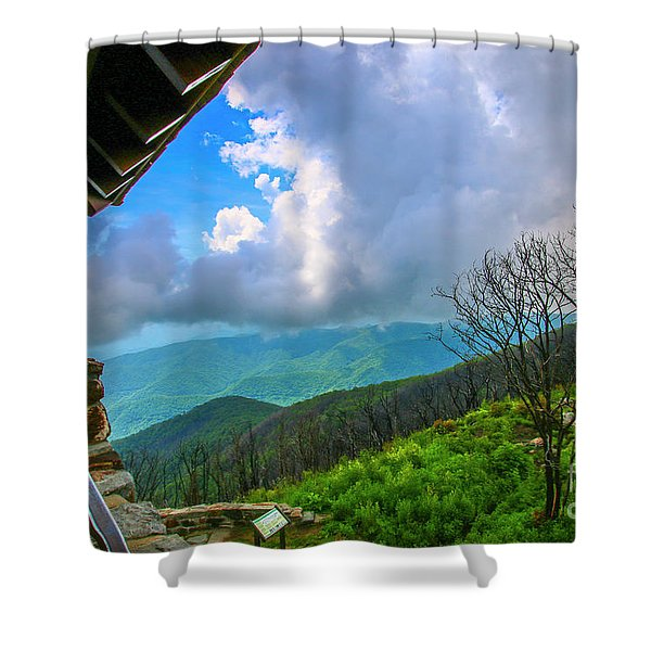 Shower Curtain featuring the photograph Observation Tower View by Tom Claud