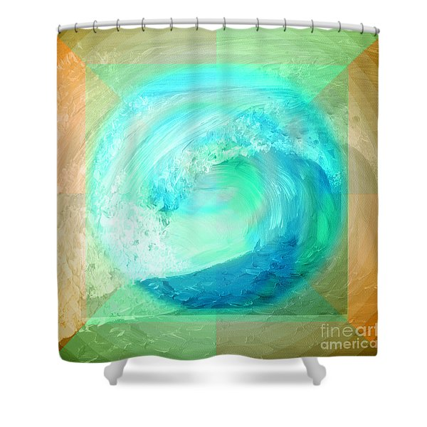Ocean Earth Shower Curtain