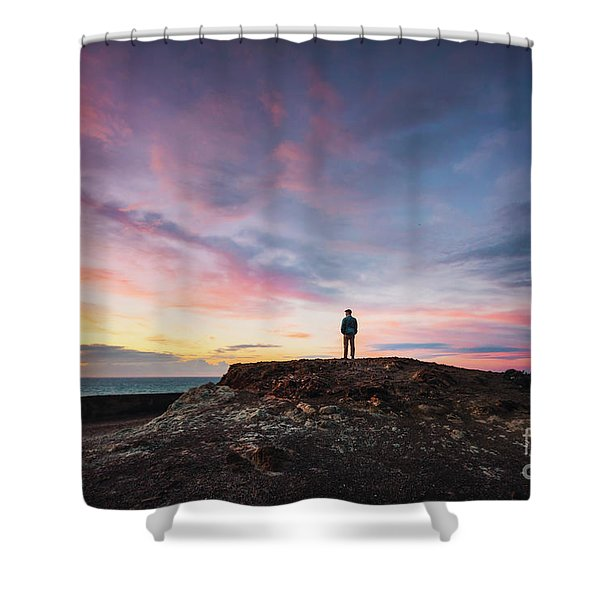 On The Wings Of Light Shower Curtain