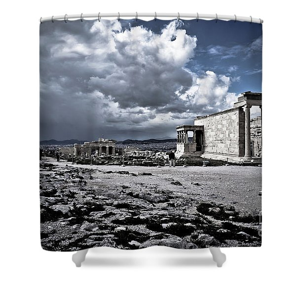Panorama Of Athens, Greece Shower Curtain