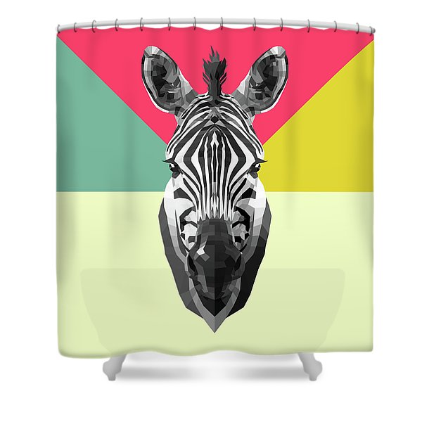 Party Zebra  Shower Curtain