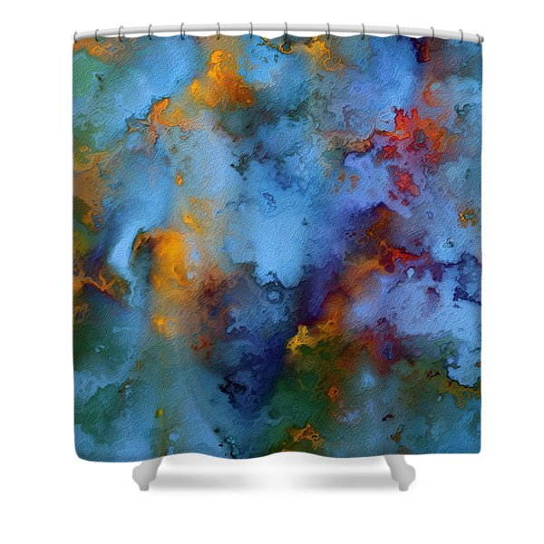 1 Peter 5 7. He Cares For You Shower Curtain