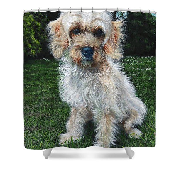 Portrait Of Toffee Shower Curtain