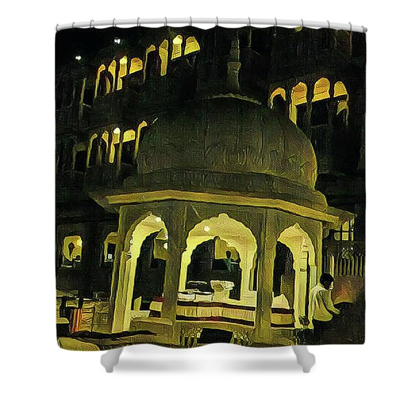 Tomb Of Shinning Windows Shower Curtain