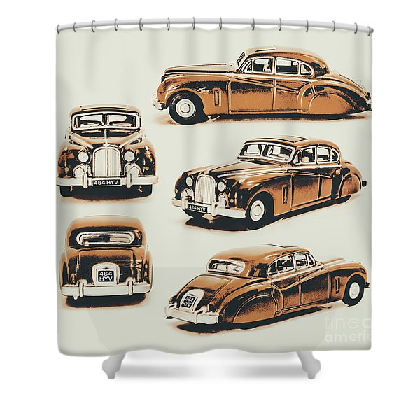 Retro Rides Shower Curtain