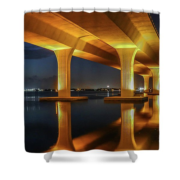 Shower Curtain featuring the photograph Roosevelt Reflection by Tom Claud