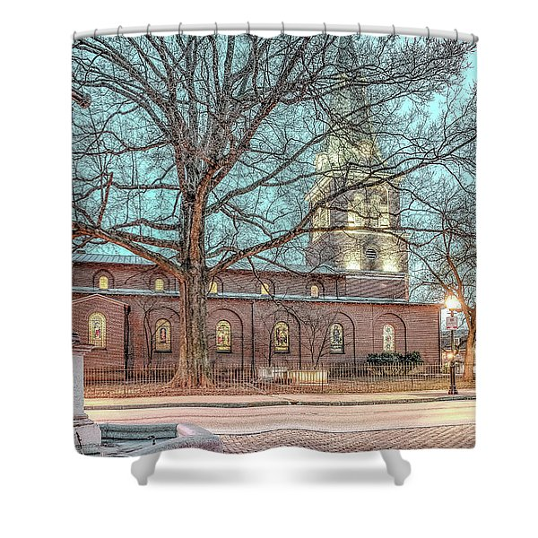 Saint Annes Circle With Fountain Shower Curtain