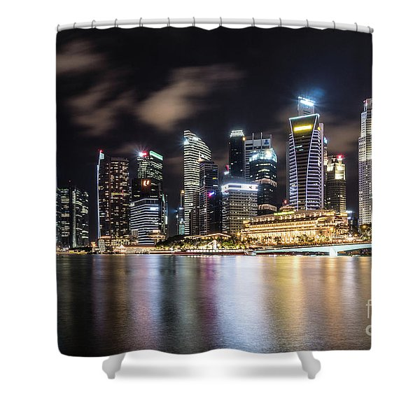 Singapore By Night Shower Curtain