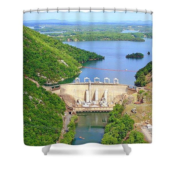 Smith Mountain Lake Dam Shower Curtain