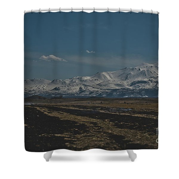 Snow-covered Mountains In The Turkish Region Of Capaddocia. Shower Curtain