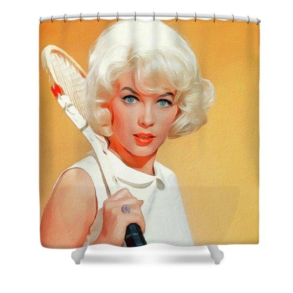 Stella Stevens, Vintage Actress Shower Curtain