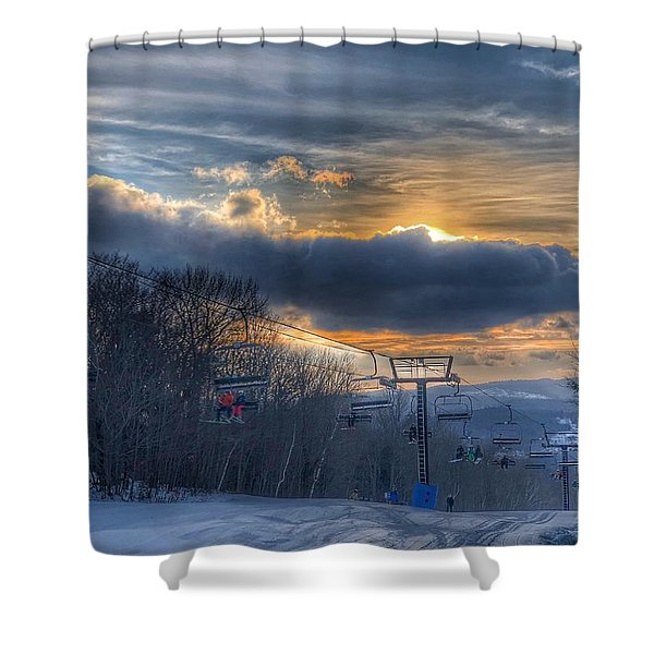 Sunrise At Okemo Mountain Shower Curtain