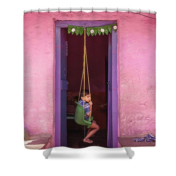 Swing Shower Curtain