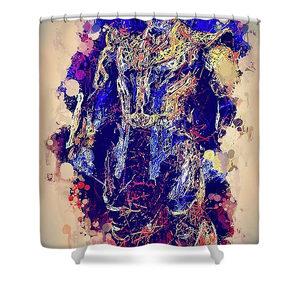 Thanos Watercolor Shower Curtain